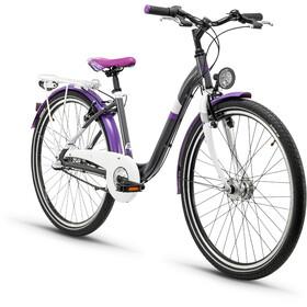s'cool chiX 26 3-S Steel Kids, darkgrey/violett